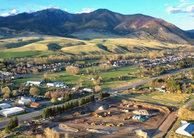 Aerial View of the Bridger View construction site