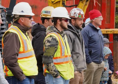 Team of engineers, architects, and construction workers