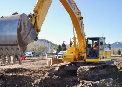 Excavator on Bridger View site