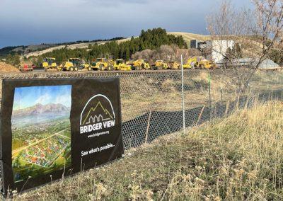 Fence near Bridger View construction site