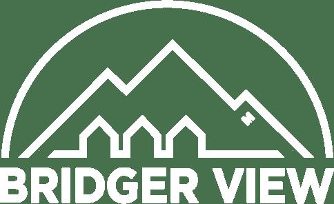 Bridger View all white logo
